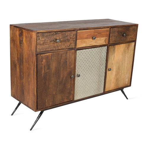 Large Fraser Wood Metal Sideboard Temple Webster