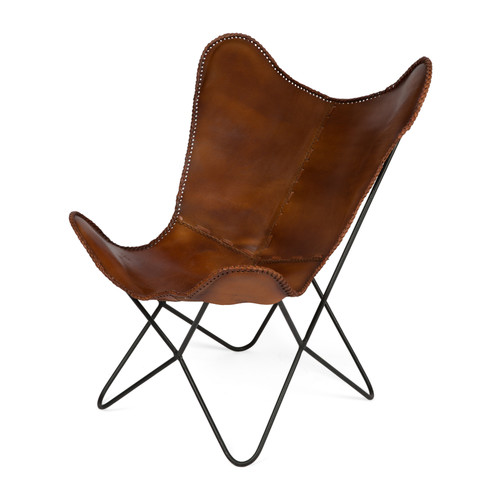 Storm Iron Leather Rest Chair Temple Webster