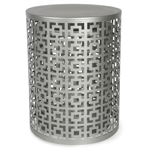 Lifestyle Traders Set of 2 Silver Barcelona Side Tables