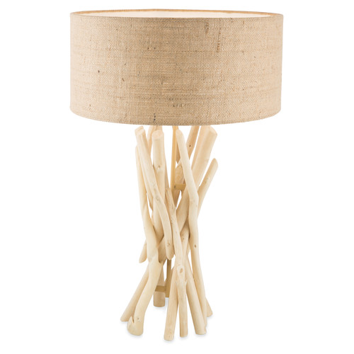 Driftwood table lamp with jute shade temple webster lifestyle traders driftwood table lamp with jute shade mozeypictures Image collections