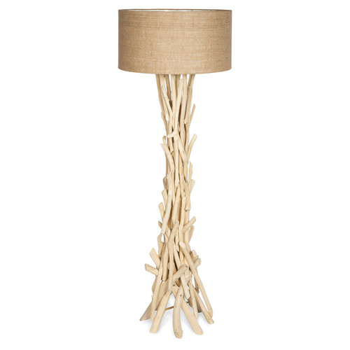 Driftwood floor lamp with jute shade temple webster lifestyle traders driftwood floor lamp with jute shade aloadofball Image collections