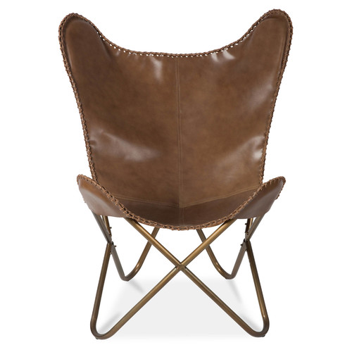 Lifestyle Traders Leather Butterfly Chair