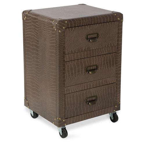 3 Drawer New York Faux Leather Bedside Unit Temple Amp Webster