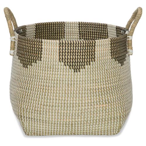 Lifestyle Traders Monochrome Seagrass Basket