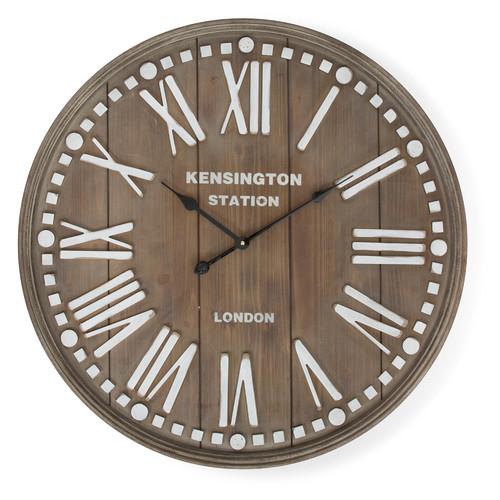 Kensington Station Wooden Wall Clock Temple Amp Webster