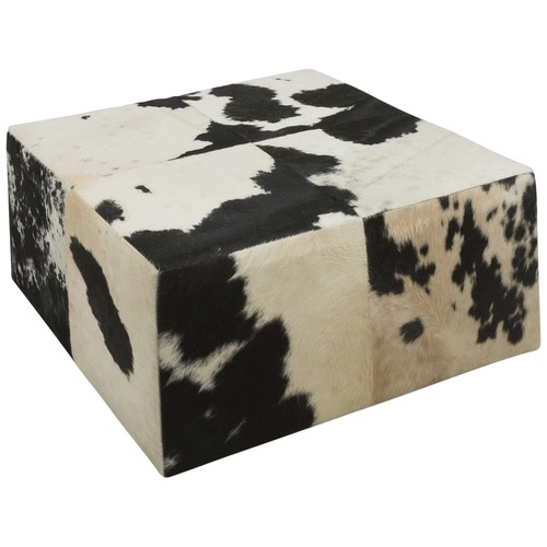 Sensational Black White Square Block Cowhide Coffee Table Ncnpc Chair Design For Home Ncnpcorg