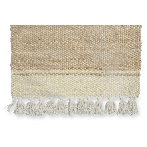 Lifestyle Traders Natural Asmita Jute Handloom Floor Mats With Tassels