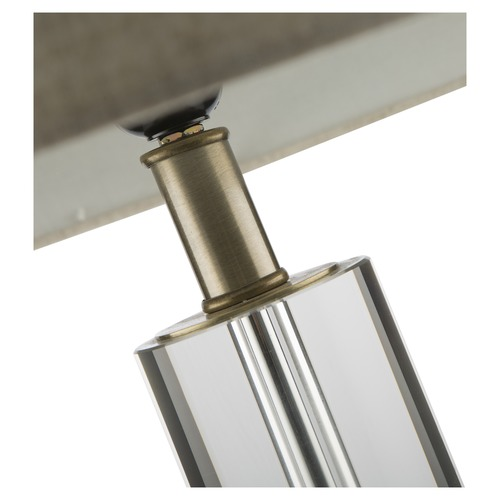 Lifestyle Traders White & Clear Crystal Tube Classic Lamp