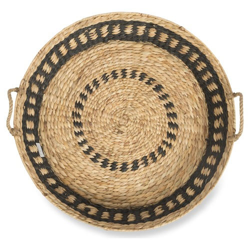 Lifestyle Traders Natural & Black Haydee Water Hyacinth Extra Large Basket