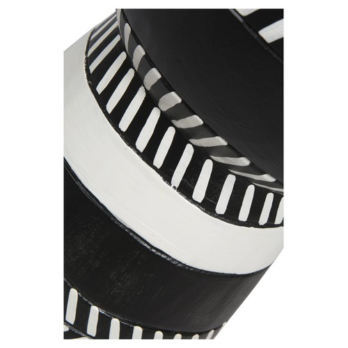 Lifestyle Traders Black & White Mischa Wooden Stool