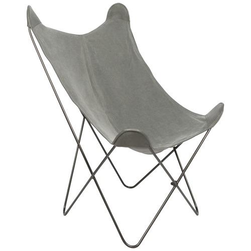 Dark Grey Kanza Cotton Butterfly Chair