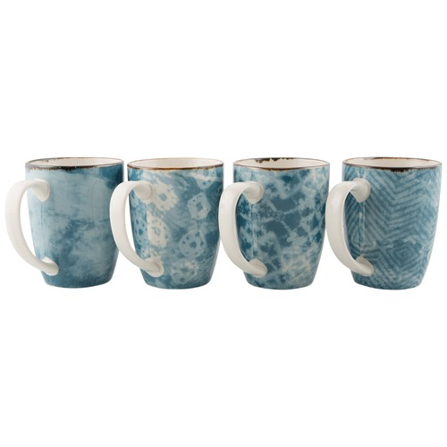 Lifestyle Traders Assorted Set Of 4 Porcelain Mugs