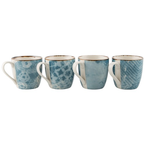 Lifestyle Traders Assorted Set Of 4 Porcelain Espresso Cups