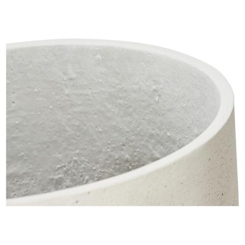 Large White Lime Round Concrete Pot