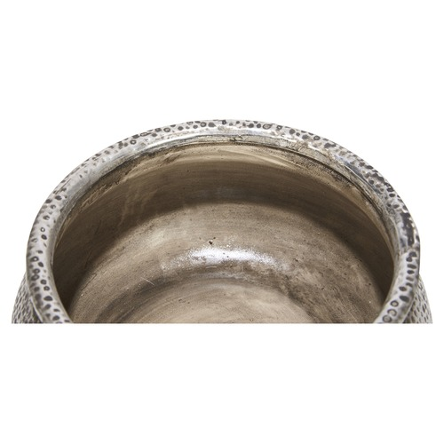 Lifestyle Traders Wide Rustic Beaten Ceramic Planter