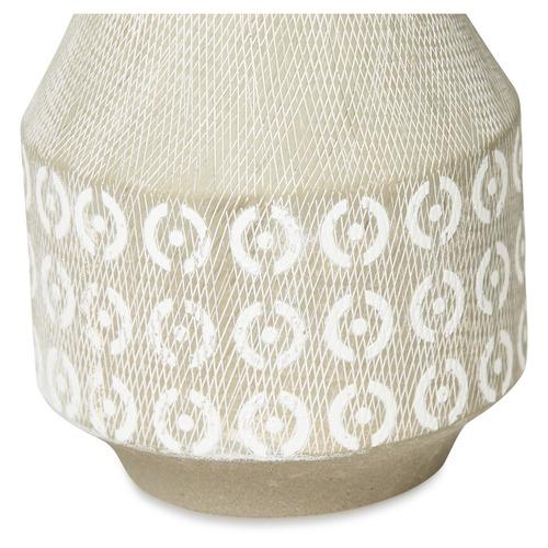 Lifestyle Traders Medium Light Grey Circle Ceramic Vase