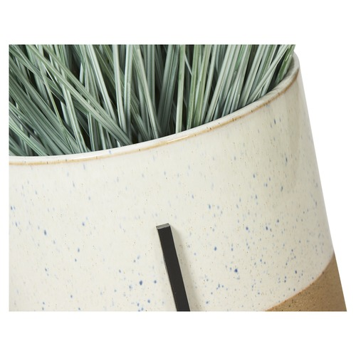 Lifestyle Traders 2 Tone Ceramic Pot on Iron Stand