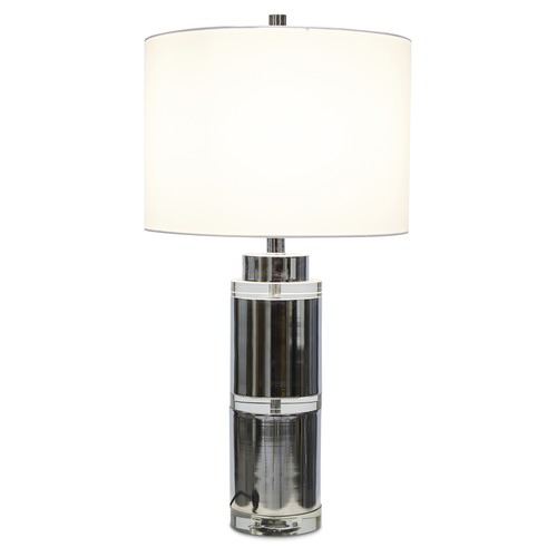 Lifestyle Traders Tall Valerie Crystal & Metal Table Lamp