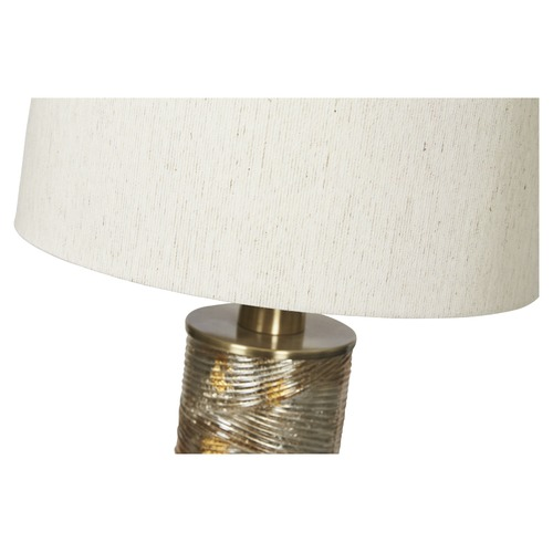 Lifestyle Traders Opulent Glass & Metal Table Lamp
