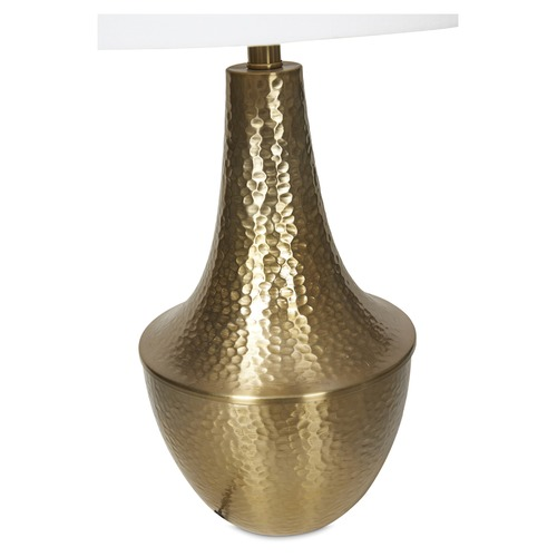 Lifestyle Traders Brass Metal Beaten Table Lamp