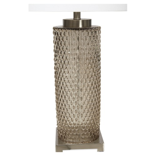 Lifestyle Traders Tall Elle Glass & Metal Table Lamp