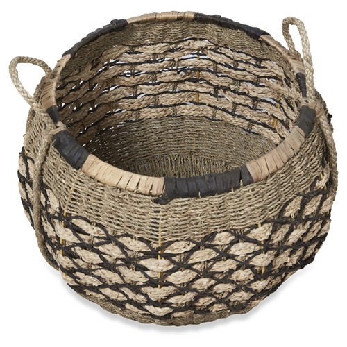 Lifestyle Traders 2 Piece Coree Woven Seagrass Basket Set