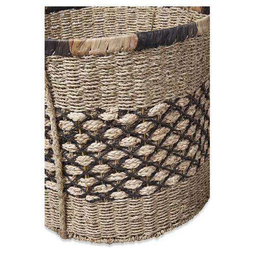 Lifestyle Traders 3 Piece Round Ecuador Water Hyacinth Basket Set