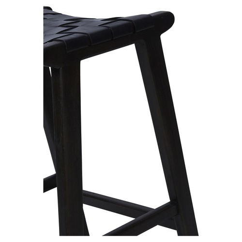 Hobayo 65cm Rectangular Bar Stool with Leather Weaving