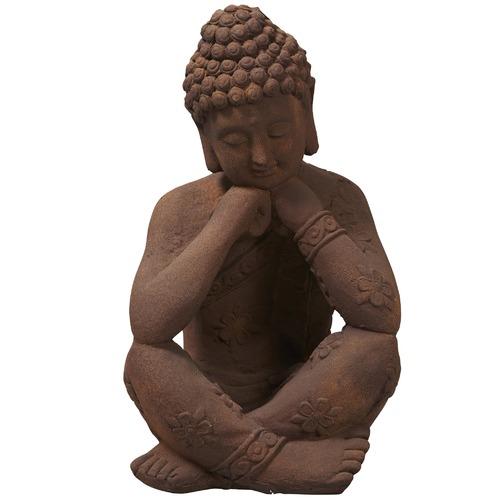 Lifestyle Traders Terracotta Banyu Cross Legged Reflective Buddha Statue
