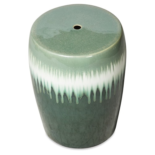 Lifestyle Traders Green Forest Drip Ceramic Side Table