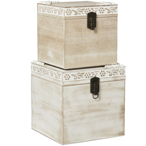 Lifestyle Traders 2 Piece Lyon Storage Box Set with Clips