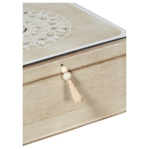 Lifestyle Traders 2 Piece Lyon Wooden Storage Box Set with Tassels