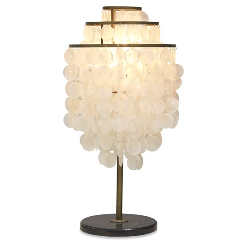 Lifestyle Traders Tiered Shell Table Lamp