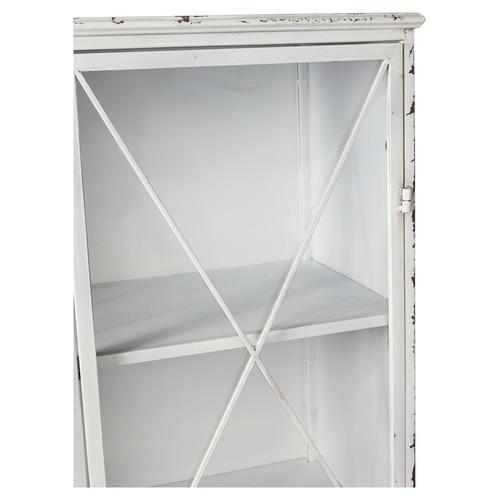 Lifestyle Traders Antique White 2 Door Metal Bookcase
