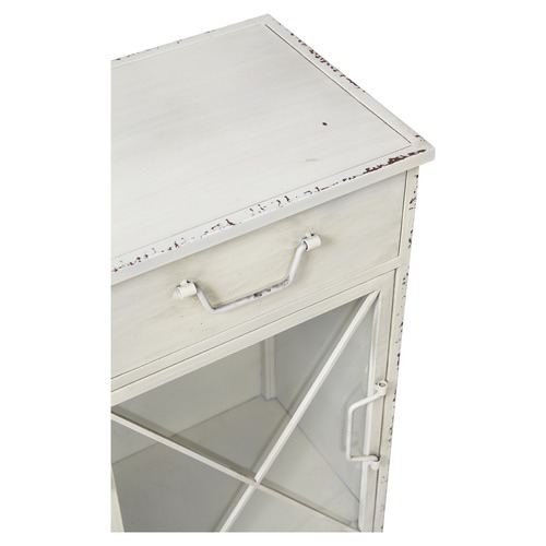 Lifestyle Traders Single Drawer Metal Bedside Table