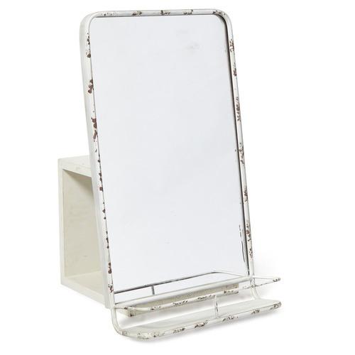 Lifestyle Traders Rectangular Antique White Vertical Metal Mirror