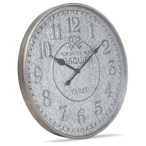 Lifestyle Traders 80cm Hotel Pasquier Metal Wall Clock