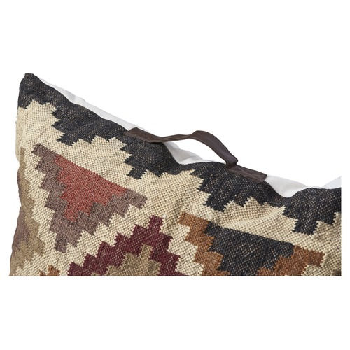 Lifestyle Traders Kilm Checkered Floor Cushion with Handle
