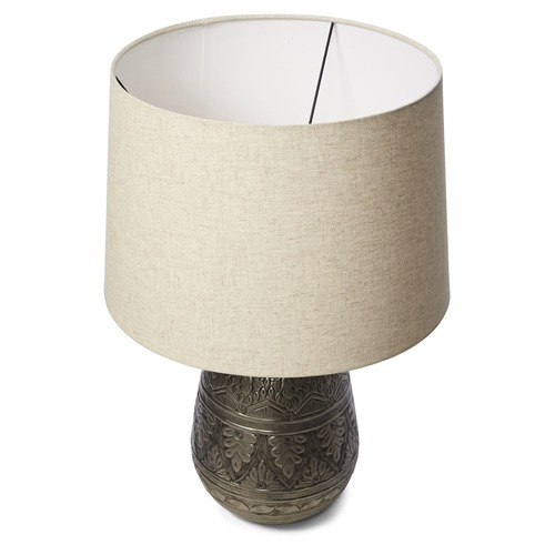 Lifestyle Traders Jasper Hammered Metal Table Lamp