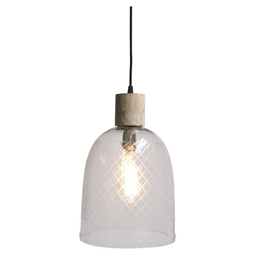 Lifestyle Traders Curved Byron Cut Glass Pendant Light