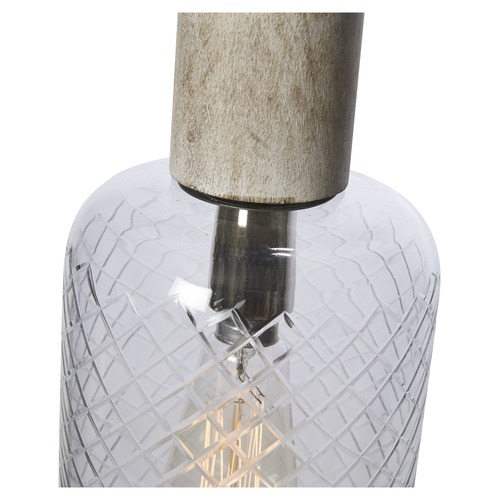 Lifestyle Traders Cylindrical Byron Cut Glass Pendant Light