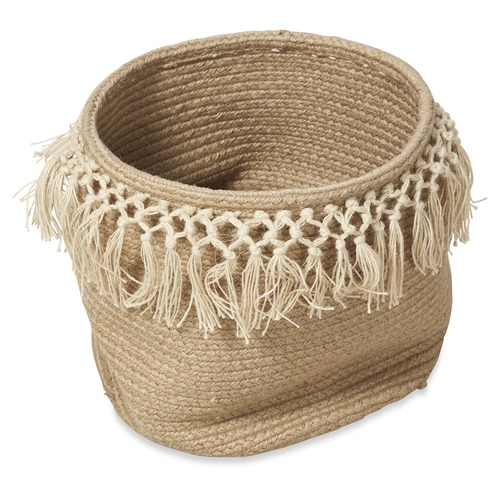 Lifestyle Traders 2 Piece Cindy Braided Jute Basket Set