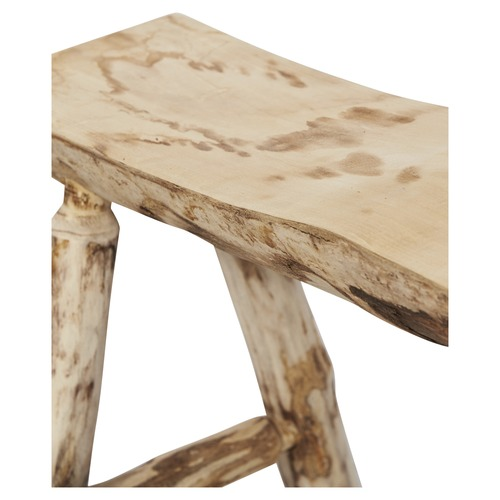 Lifestyle Traders Bleached Large 2 Seater Malang Wood Stool