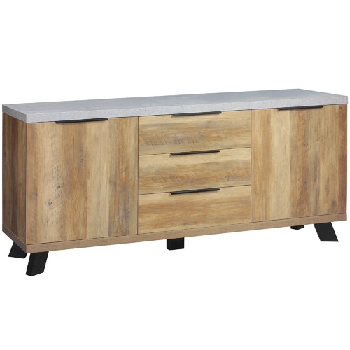 Lifestyle Traders Atlanta Sideboard with Metal Legs