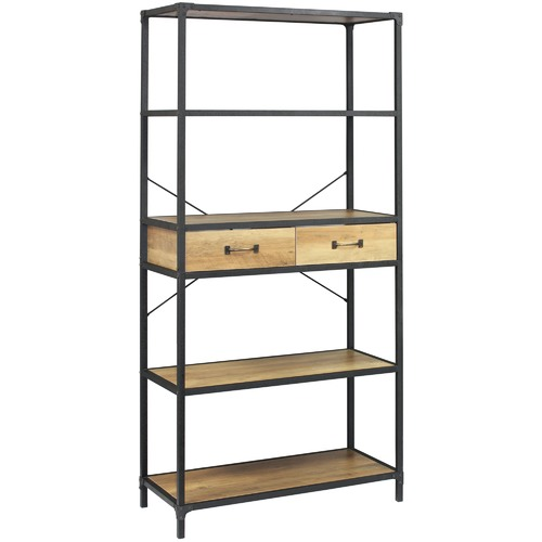 Lifestyle Traders Soho Wooden Shelving Unit with Drawers