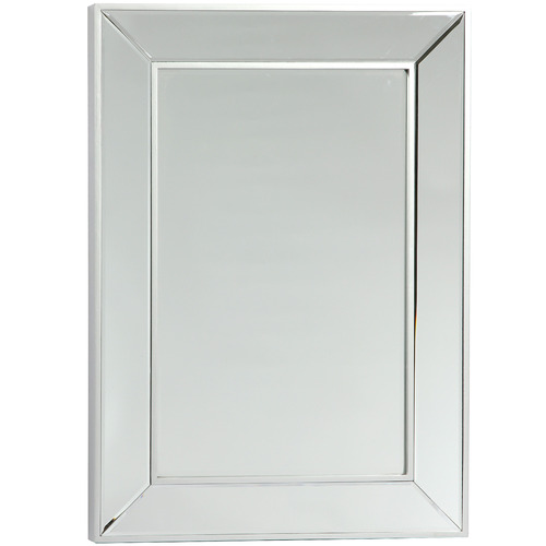 Lifestyle Traders Silver Mayfair Classic Rectangular Wall Mirror