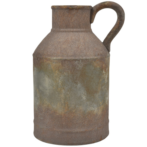Lifestyle Traders Rust Provence Distressed Stoneware Jar with Handle