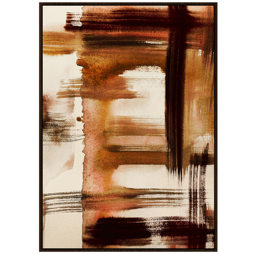 Lifestyle Traders Autumn Abstract Framed Canvas Wall Art