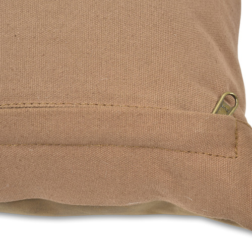 Lifestyle Traders Tan Napa Square Leather Cushion