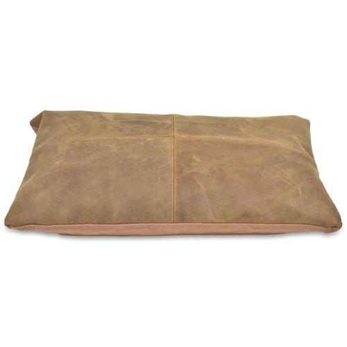 Lifestyle Traders Tan Napa Rectangular Leather Cushion